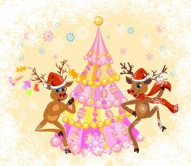 Christmas funny Reindeer
