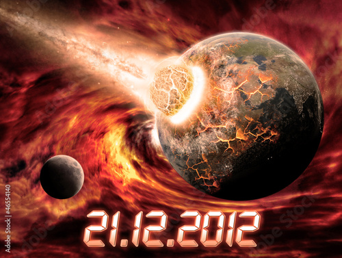 Foto op Canvas Baksteen Planet Earth apocalypse 2012