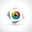 Logo rainbow eye, iris # Vector