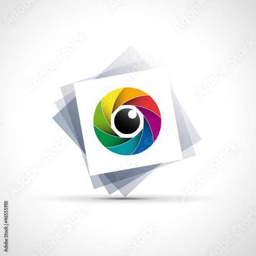 Logo rainbow eye, iris # Vector