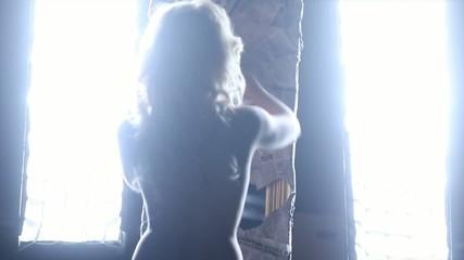 Girl unwrapping mirror