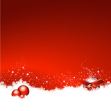 Fototapety Red Christmas Background Present