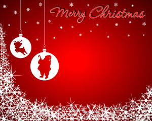 Christmas Background with Santa & Baby Reindeer