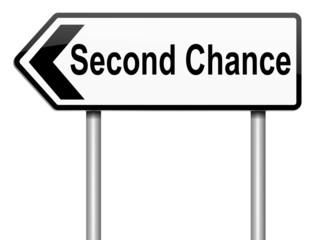 Second chance concept.