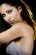 Beautiful woman with evening make-up. Jewelry and Beauty. Fashio