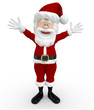 3D Santa looking happy