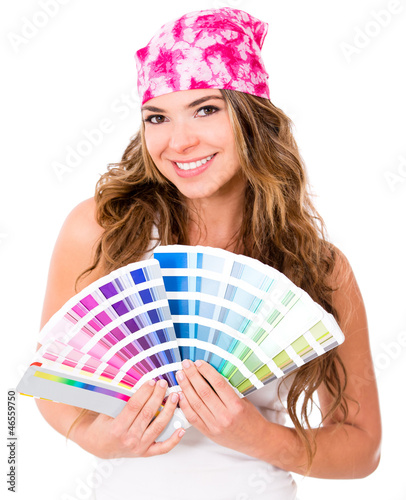 Woman with a Pantone