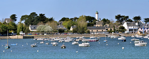 Panoramic photo of Port of Port-Navalo in France