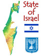 Israel MIddle East national emblem map symbol motto
