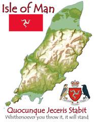 Isle of Man Europe national emblem map symbol motto