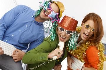 Joyful new year's eve office band