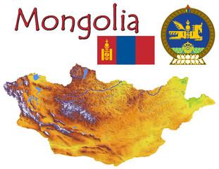 Mongolia Asia national emblem map symbol motto
