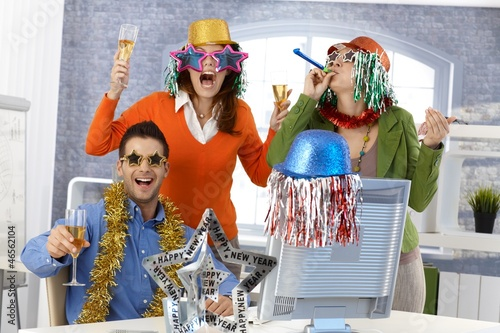 New year's eve party in office