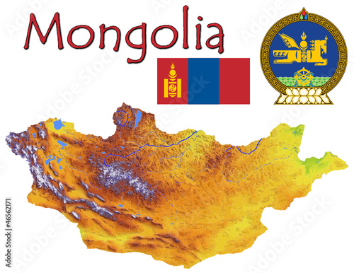Mongolia Asia national emblem map symbol motto
