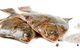 Two flounder with salt poster