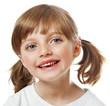 a portrait of a happy little girl