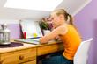 Family - child doing homework