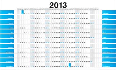 Planner 2013 blue - EN