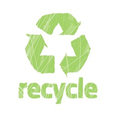 Stamp with recycle symbol