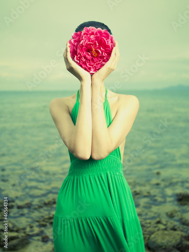 Surreal portrait of woman