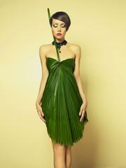 Beautiful woman in unusual dress