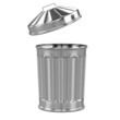 3d Trash can lid flying