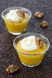 pudding with pumpkin and mango