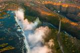 Fototapeta powietrze - niebieski - Widok z lotu ptaka