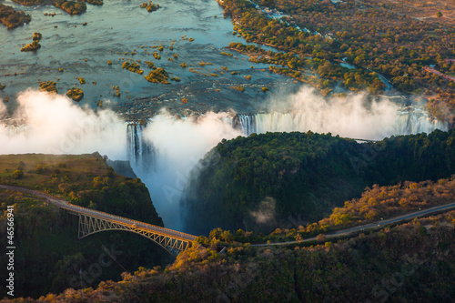 Fotobehang Luchtfoto Victoria Falls from the Air