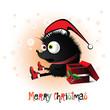 Merry Christmas hedgehog