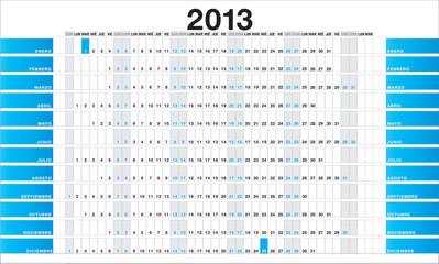Planner 2013 blue - ES