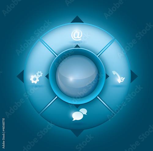 Abstract navigational buttons
