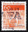 Postage stamp Germany 1967 Treptow Gate, Neubrandenburg