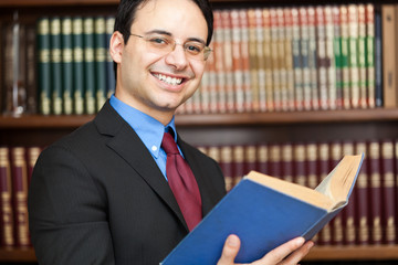 Lawyer in his studio