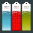 Merry Christmas background Vertical banner set, vector