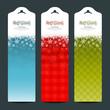 Merry Christmas background Vertical banner set, vector