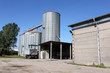 canvas print picture - silo corn agriculture business