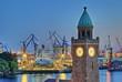 Werft in Hamburg am Abend