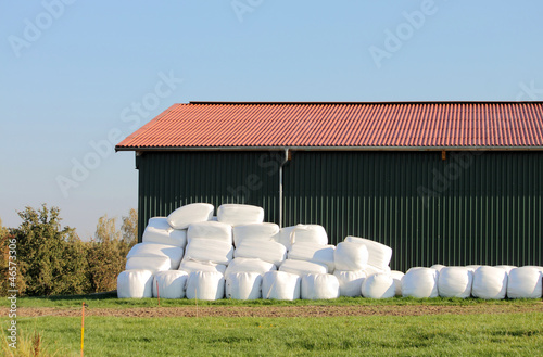 canvas print picture straw hay bale plastic cover