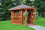 Gazebo in the garden - wooden house