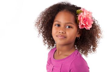Cute young African Asian girl