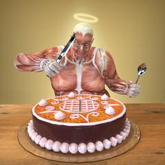 Anatomia Hombre Comiendo Tarta