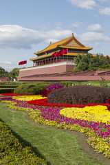 Forbidden City Temple and Flowers