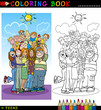 Happy Teenagers group for coloring