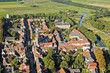 Areal view of the Dutch town Buren in the Betuwe