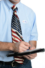 Patriot Voter Takes a Poll