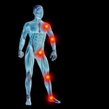 High resolution conceptual 3D human with inflammation poster