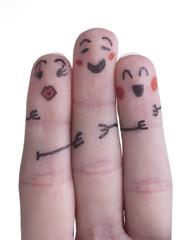 Famiglia con dita