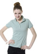 Lovely young leisure woman in casual clothing,