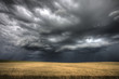 Leinwanddruck Bild - Storm Clouds Saskatchewan